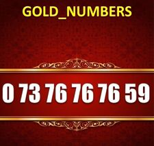 GOLD MOBILE PHONE NUMBER MEMORABLE GOLDEN EASY VIP 07376767659