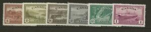 CANADA 1946 SG401-407 Set of Peace Values to $1 *Fine MINT Hinged Cat £50