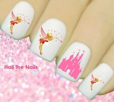 Tinkerbell Pink Castle Heart Nail Art Water Transfer Decal Wraps Disney Y815