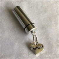 Cremation Jewellery Memorial Ashes Urn with Rhinestone Heart Family charms