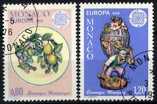 Monaco 1976 SG#1251-2 Europa, Ceramics Cto Used Set #D40651