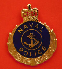NAVAL POLICE  ENAMEL & GOLD PLATING 25MM HIGH WITH 1 PIN