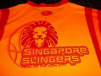 SINGAPORE SLINGERS NBL Basketball Jersey XL VTG RARE ISC MADE IN OZ 2007 NBA