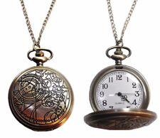 Doctor Who Vintage FOB Bronze Finish Pendant Pocket Watch