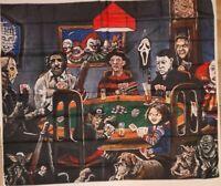 "Horror Movie Villians Poker Tapestry Wall Hanging Decor 59""x 51"" USA SELLER NEW"