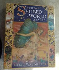 SACRED WORLD ORACLE TAROT CARDS BOOK WISDOM FANTASY by Waldherr CAT ResQ