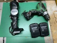 """HITACHI 18V 1/2"""" Cordless Driver  Drill DS 18DS AL With 2 Batteries & Light READ"""