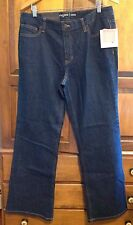 New! Liz Claiborne Womens Jeans Size 14, Bootcut, Dark Blue, Jackie, Stretch NWT