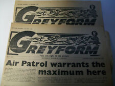 2 x White City Manchester 1964 Greyform tips greyhound racing form Dogs paper