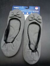 Therapedic MemoryFoam Ballerina Slipper Womens L 9-10 (D18-1221)