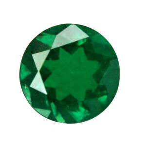 1.05 ct Zambia Natural Emerald Round Loose ~ 7.0 mm Gemstone  833_VIDEO