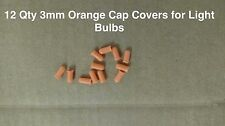 12 qty ORANGE 3mm light bulb Color Caps Covers,  climate radio switch auto car