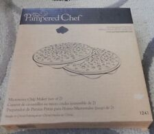Pampered Chef Black Silicone Microwave Potato Chip Maker 1241