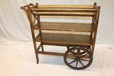 Unusual Arts & Crafts Oak Custom Made Serving Stand Cart