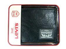 Levi's Men's Bifold Leather Wallet Black 31LP130013 RFID Blocking