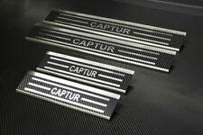 Edelstahl Carbon Style Einstiegsleisten für Renault Captur II ab bj.2020