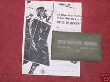 Early Ww Ii (43) Individual Chemical Gas Protective Cover Date(1943) Unissued