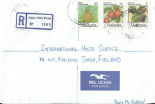 Malaysia 1995 registered cover to Finland, PERLIS stamp