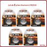 Lot de 5 piles boutons CR2016 lithium Ansmann, livraison rapide et gratuite