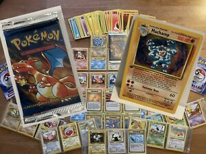⭐️ 99' WOTC Pokemon Card Bundle inc. SEALED ESP Charizard Booster Pack / Machamp