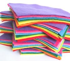 Wool Mix 9 inch Felt Squares x10 Over The Rainbow Bundle - Soft Craft Felt!!