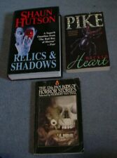 Highly Collectable Shaun Hutson Christopher Pike + Pan Stories Pulp Horror Books