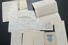 Ww I Us Navy Documents, Discharge Papers,Postcards Uss Tennessee 1909 Original !