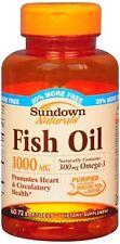 Sundown Fish Oil 1000 mg Softgels Cholesterol Free 60 Soft Gels (Pack of 2)
