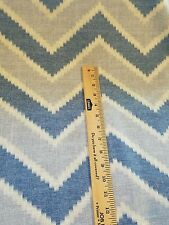 7.5 yd Kravet Decorator fabric Amani Chevron drapery home decor blue white