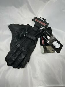 Womens Tourmaster Motorcycle Leather Gloves Size XXL Black Retails For $74.99
