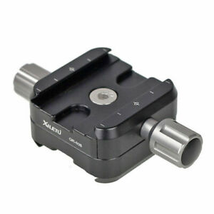 Double Clamp QR-50B for Quick Release Plate Benro Arca Swiss Letu Compatible