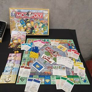 The Simpsons Monopoly Board Game 2003 100% Complete Parker Brothers Free Post