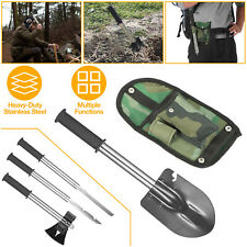 6-in-1 Multi Tool Survival Kit AXE SHOVEL KNIFE SAW HAMMER NAIL PULLER W/ pouch