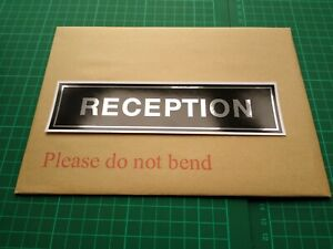 Reception Self Adhesive Sticker Safety Sign  Business Office Hotel Beauty Retail