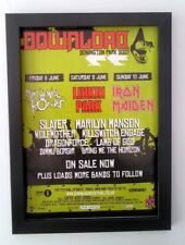 IRON MAIDEN*Linkin Park*MCR*Download*2007*ORIGINAL*A4*ADVERT*FRAMED*FAST SHIP