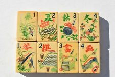 Beautiful Early Antique Carved Chinese Mahjong Set 144 Tiles