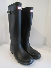 Hunter Original Tall Rubber Rain Boots Black Size 10