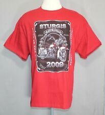 Sturgis 2009 Hills Rally T-Shirt Red Men's Size XL EUC Runs Big