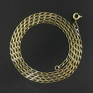 """FINE 9 CT GOLD CURB LINK 24 """" CHAIN NECKLACE - 3 GRAMS"""