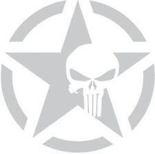Army Star Punisher Skull Jeep Car Military Wall Decal Sticker BIG OR SMALL