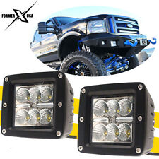 2Pcs 3x3 inch LED Pods Flood Driving Fog Light For Ford F250 F350 F450 Excursion