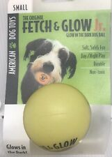 3 Ball Pack Dog Toys Fetch and Glow Jr. Ball, Small Size Yellow Ball Non Toxic