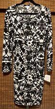 LulaRoe Gorgeous Black & White Tie Dye Debbie Dress NWT Med