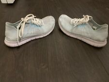 Womens Nike Free RN Flyknit Running Shoes. Size 7 BLUE WHITE