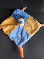 doudou plat Mickey bleu jaune orange DISNEY NICOTOY