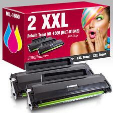 2 XXL Toner für Samsung ML1660 ML1665K ML1860 ML1865 ML1865W SCX 3000