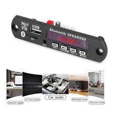 12V Coche MP3 Decodificar Junta Bluetooth Módulo Inalámbrico USB FM Radio Kit