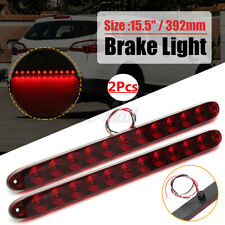 "2Pcs Red 11 LED 15"" Light Bar Stop Turn Tail 3rd Brake Light Truck"