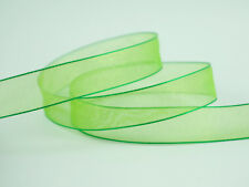 250YDS (50YDS x 5 Rolls) 16MM Woven Edge Organza Ribbon ~~ Green