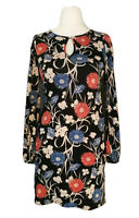 Miss Selfridge Blue Pink Floral 60s 70s Boho Ethnic Party Flare Dress Size 4